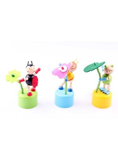 3'lü Ahşap İpli Oynar Hayvan Kukla Seti Learning Toys